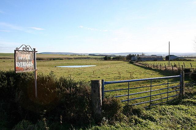Ryeriggs Farm lane.