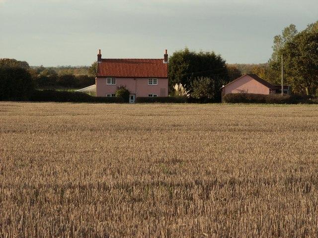 House across a field, close to Lavenham, Suffolk