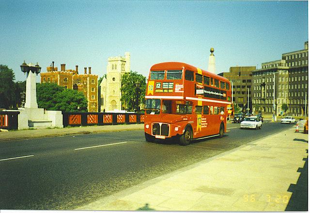 Routemaster on Lambeth Bridge
