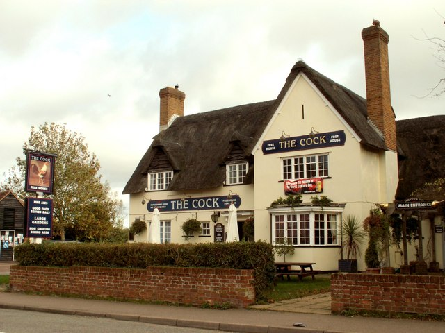 'The Cock' inn, almost opposite Lavenham church