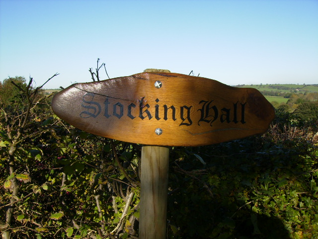 Sign at the end of track to Stocking Hall