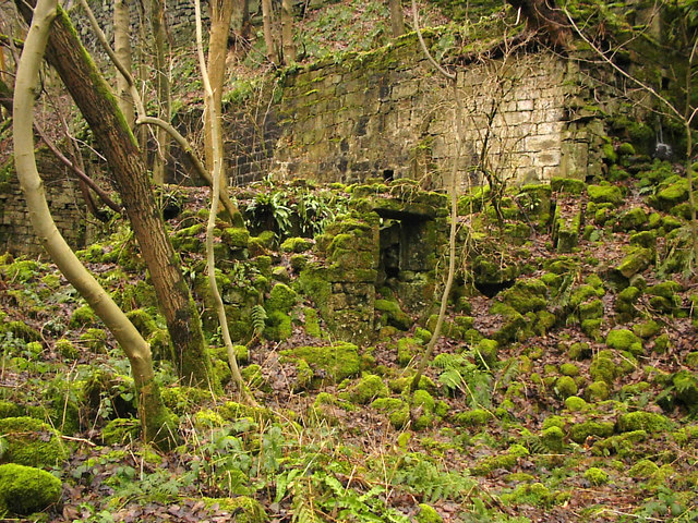 Remains of Spa Hole Mill, Jumble Hole Clough