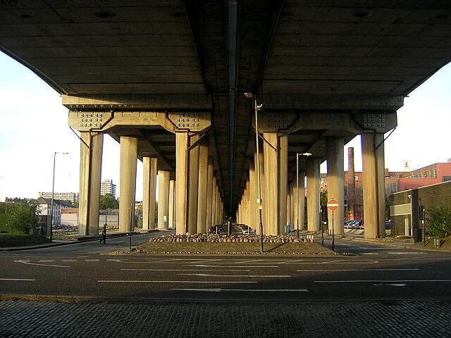 Underside of M8 at Kingston Bridge