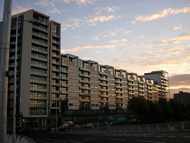Modern Flats Beside the River Clyde at Finnieston