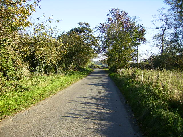 The country lane that runs through Dalby