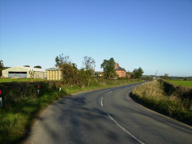 The B1363 road near Craven Farm