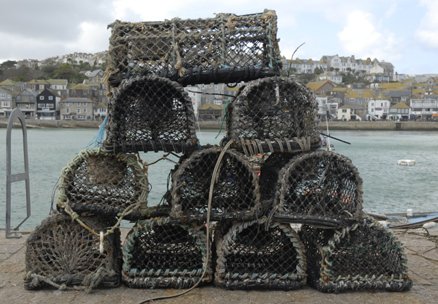 Lobster pots on Smeaton's Pier