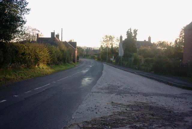 Hilderstone Road into Sandon