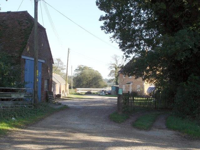 Entrance to Lower Bisterne Farm