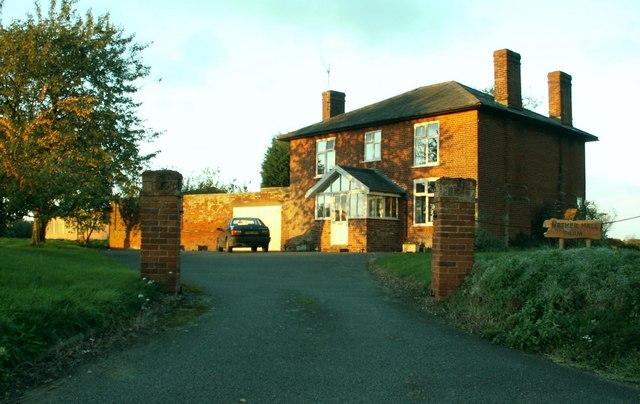 The farmhouse at Nether Hall Farm, Lavenham, Suffolk