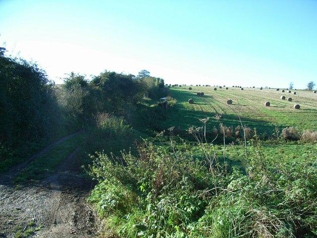 Farm track up Westcote Hill