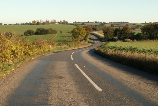 Sudbury Road, heading towards Bulmer, Essex