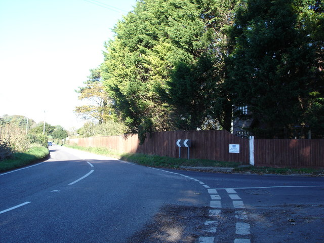 Junction on B3081 by Creech Hill House
