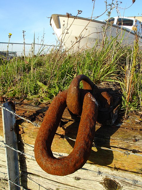 Old chain at Swale Marina