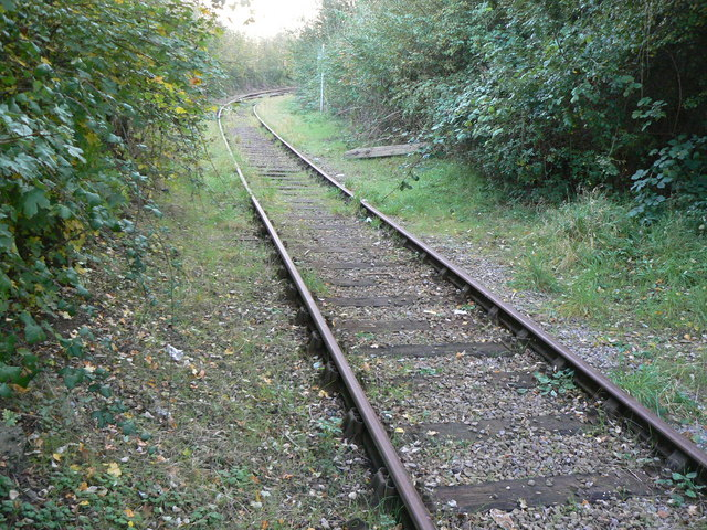 Railway line leading out of the BMW MINI body plant, Swindon