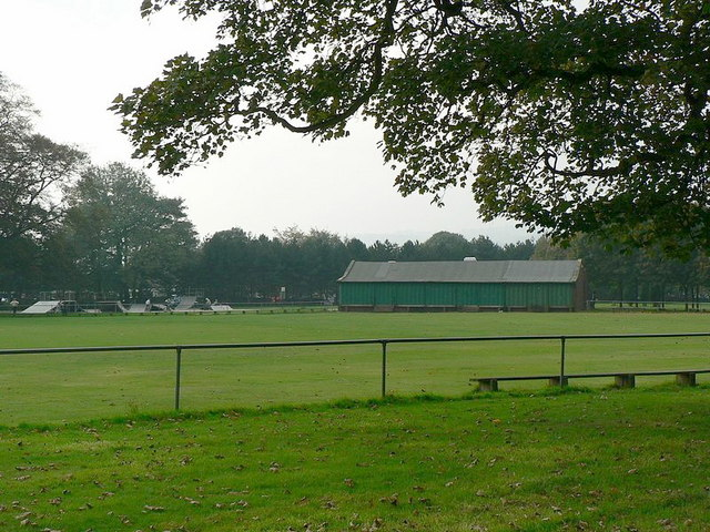 Cricket pitch and pavilion, Horsforth Hall Park