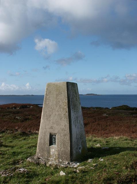 Triangulation pillar, Gortantaoid Point, Islay