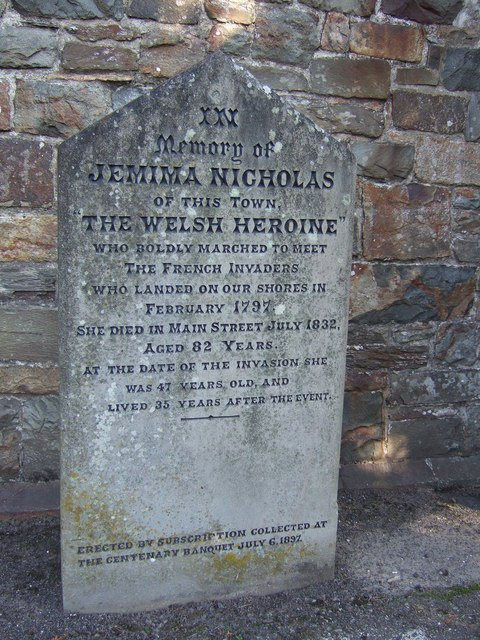 Memorial stone for Jemima Nicholas