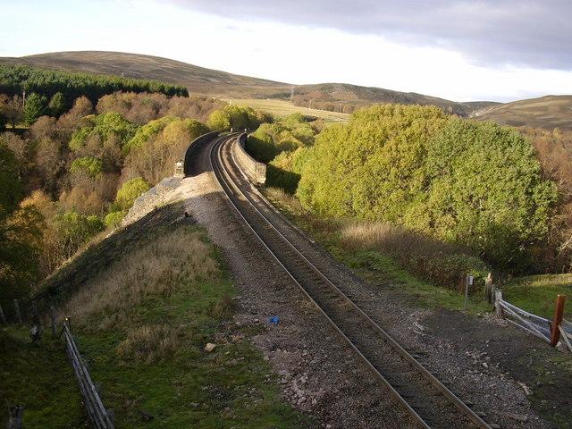 Railway at Slochd in Autumn