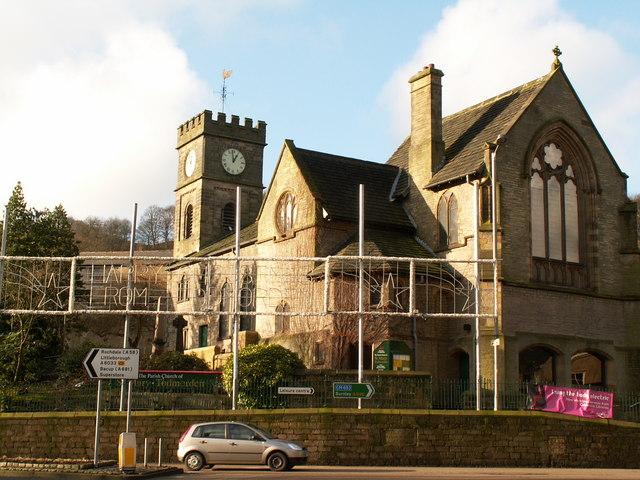 St Mary's parish church. Todmorden