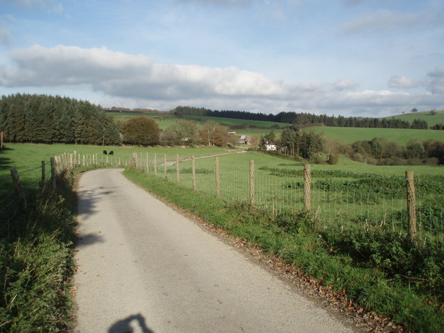 The road to King's Brompton Farm