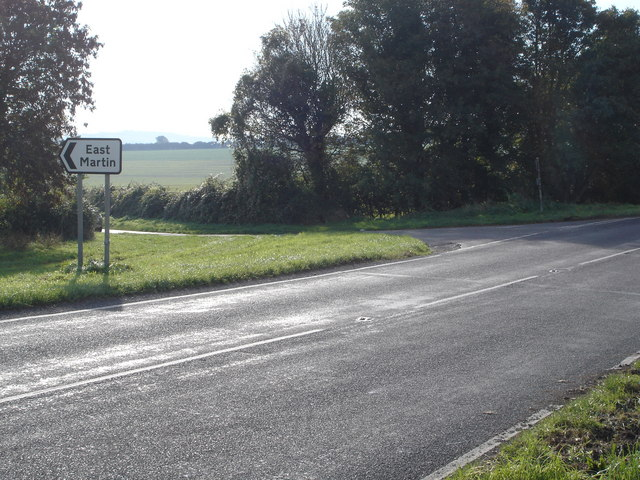 Turning for East Martin on A354