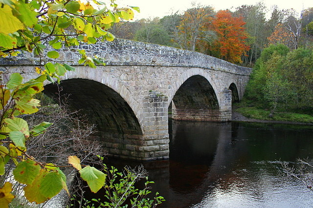 Logie bridge from the eastern banks of the Findhorn.