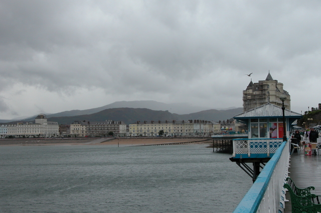 Looking along the pier towards Llandudno