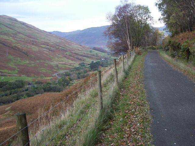 Cycle track above Glen Ogle