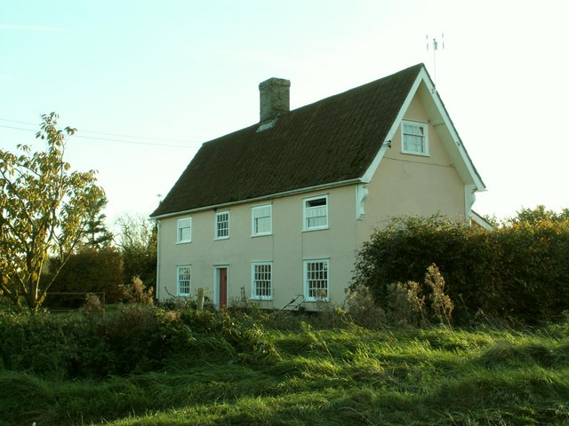 Farmhouse at Hill Farm, just southeast of Rattlesden