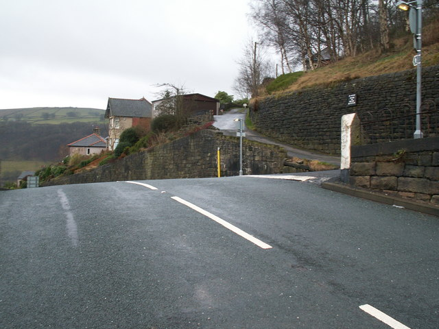 Junction of Heptonstall Road and Lee Wood Road, Hebden Bridge