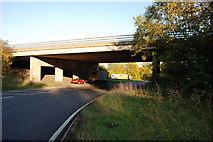 TL3611 : Roundabout under the A10 bridge by Melvyn Cousins