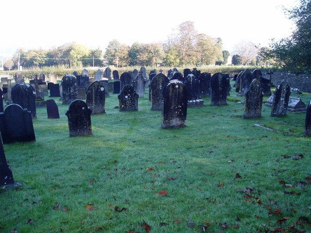 Graveyard at Llanrhaeadr