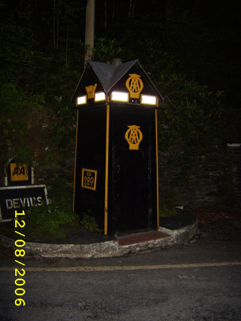 AA Call Box At Devil's Bridge