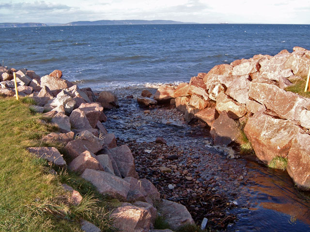 The Alton Burn reaches the sea