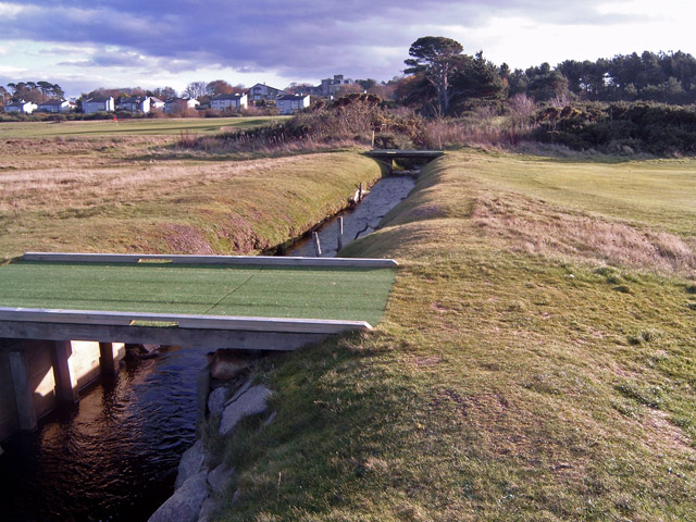 The Alton Burn crossing the Nairn Golf Course