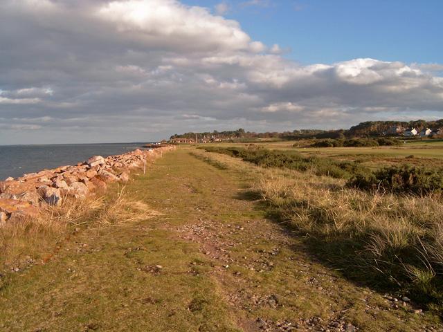 Coastal path along the Nairn Golf Course