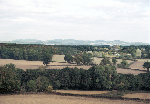 Gorsley and the Malvern Hills from Linton Hill