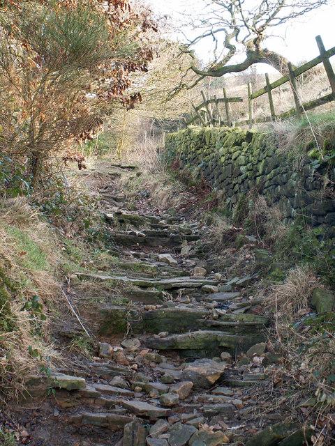 Stake Lane above Mytholmroyd