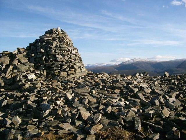Summit cairn on Meall a Bhuachaille