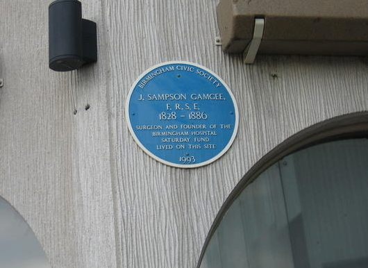 Plaque in the Birmingham Rep.