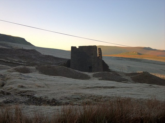 Abandoned lead mine at Dyffryn Castell