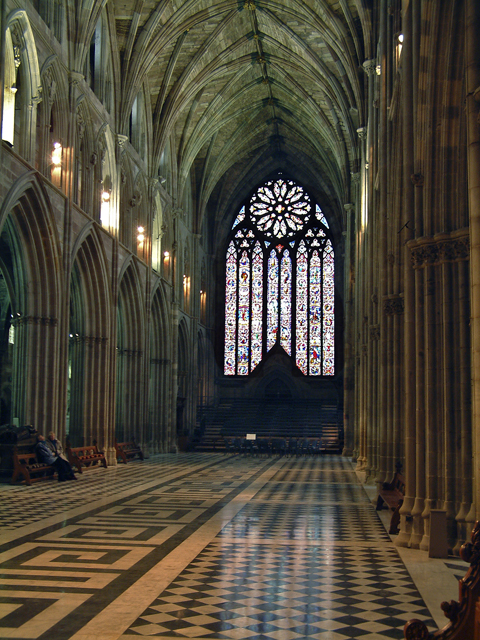 worcester cathedral nave and west window  u00a9 john