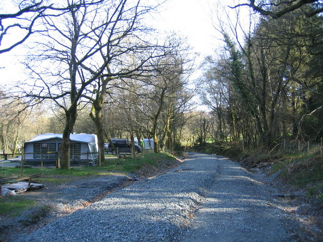 Welsh Highland Railway in the Beddgelert Forest