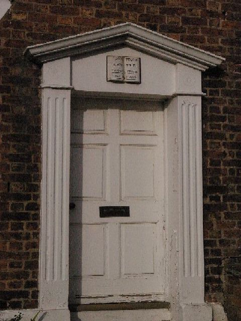 Unusual doorway, Eaton Village