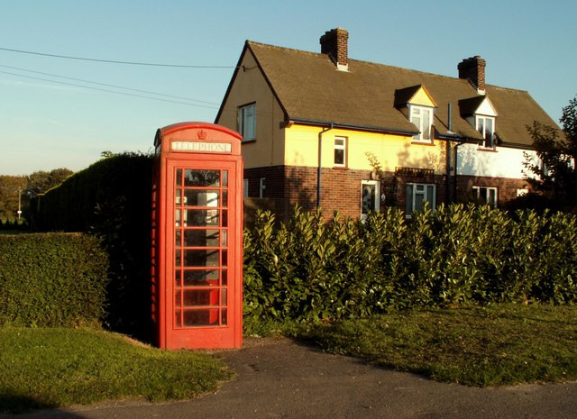 Telephone Box in a road called The Soils