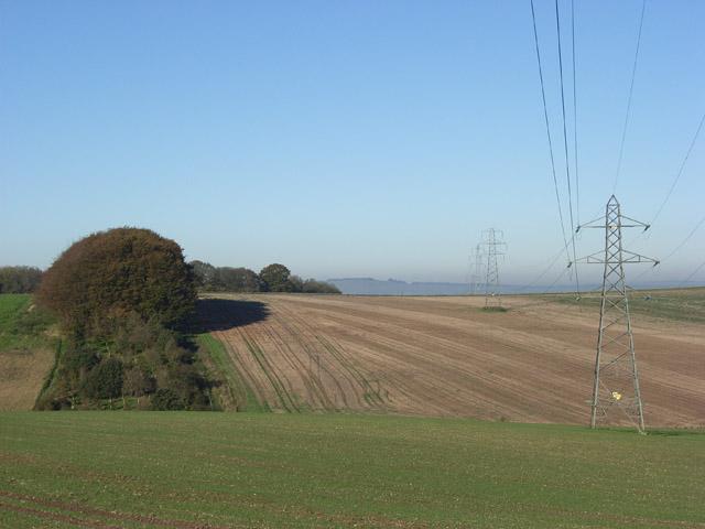 Farmland near Wexcombe