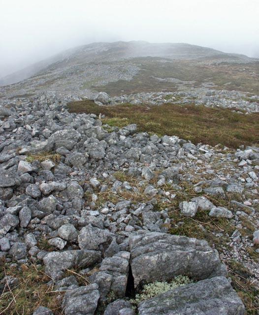 Summit ridge of Beinn Bheigier, Islay