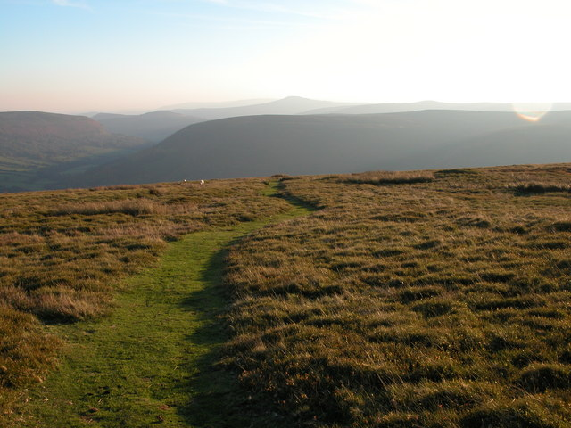 The Vale of Eywas viewed from above Loxidge Tump