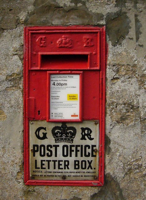 Sinderhope Post Box